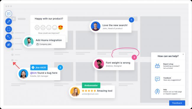 Usersnap website feedback tool