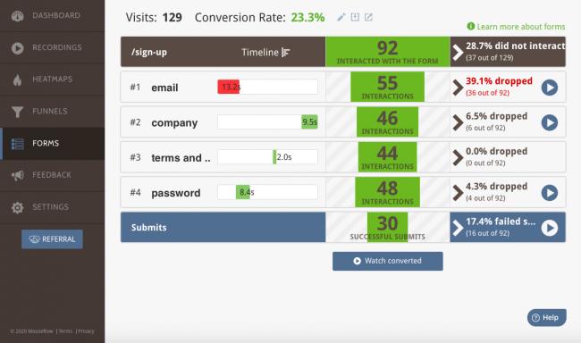 Mouseflow customer feedback
