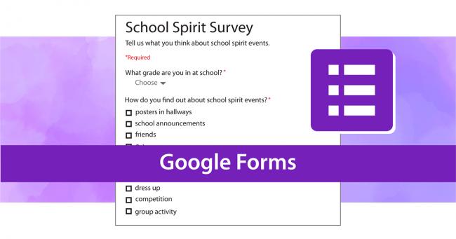 Google forms online survey
