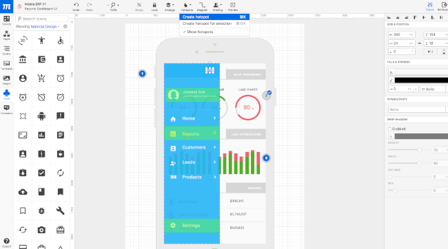 Mopinion: Top 15 Mobile App Wireframing & Mockup Tools - Moqups