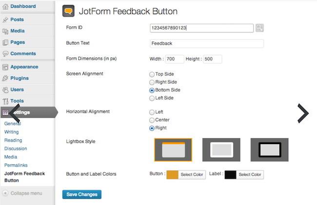 Top 10 Beste User Feedback Plugins voor WordPress - JotForm Feedback button