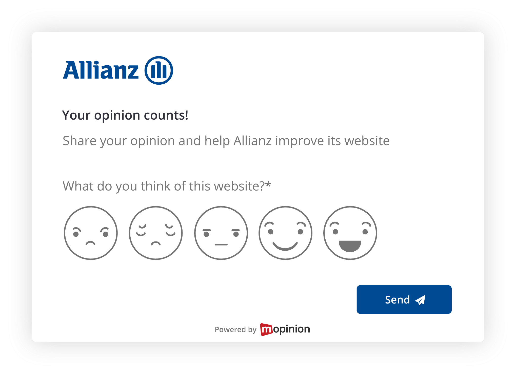 Hoe Allianz Mopinion klantfeedback benut voor conversie optimalisatie - passieve feedback