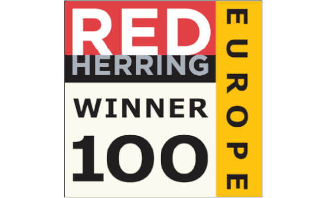 Mopinion: Mopinion chosen as a 2020 Red Herring Top 100 Europe Winner - Logo