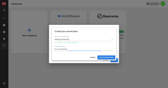 Mopinion: Mopinion integrates with Atlassian's issue tracking tool JIRA - Create JIRA connection