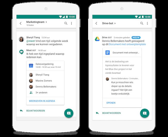 De 11 beste Team Chat tools voor thuiswerke - Google chat