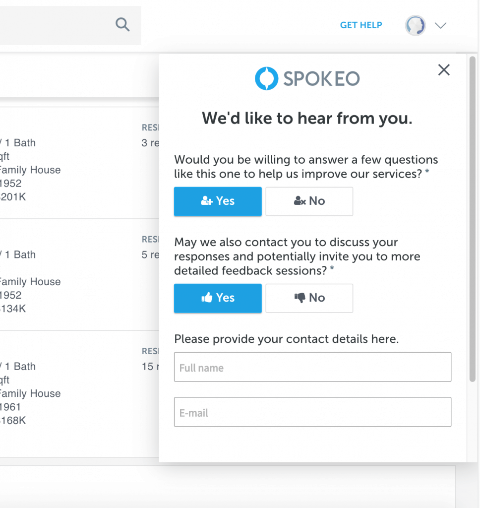 Mopinion: Customer Story: How has Spokeo's VoC program progressed? - Permission Form