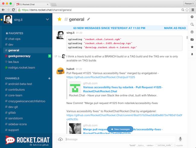 De 11 beste Team Chat tools voor thuiswerken - Rocket Chat