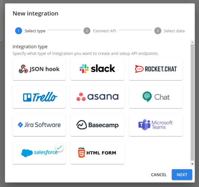 July Product Update: brand new survey flow, single sign-on, Salesforce integration and more - Salesforce Webhook