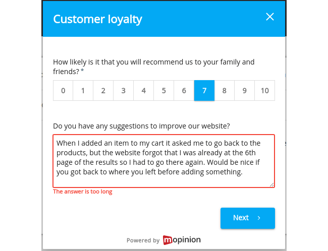 July Product Update: brand new survey flow, single sign-on, Salesforce integration and more - Character boundary too long