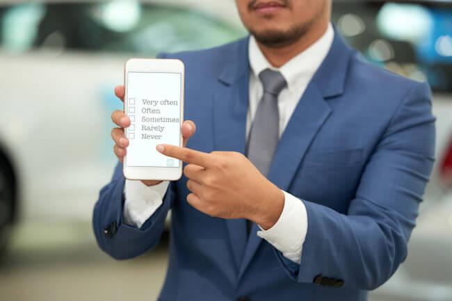 Zo meet je de klanttevredenheid van je mobiele app - feedbackformulier mobiele app