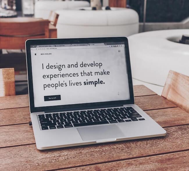 klanttevredenheid website meten - laptop inspirational quote