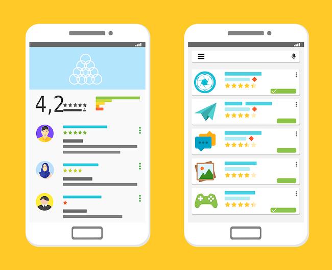 Zo meet je de klanttevredenheid van je mobiele app - ratings