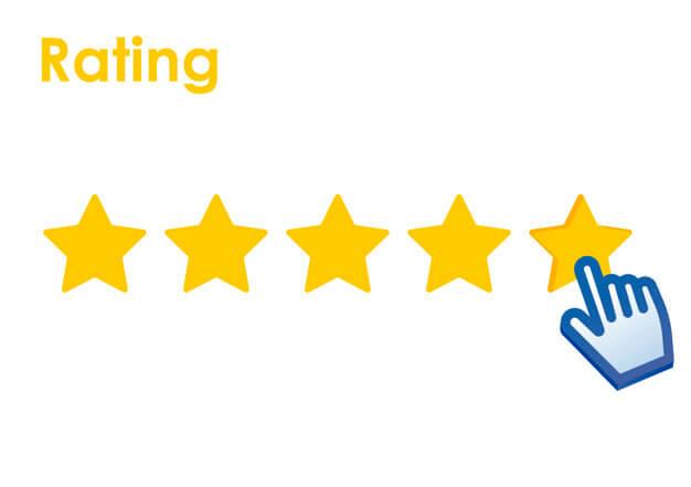 je mobiele app - ster rating