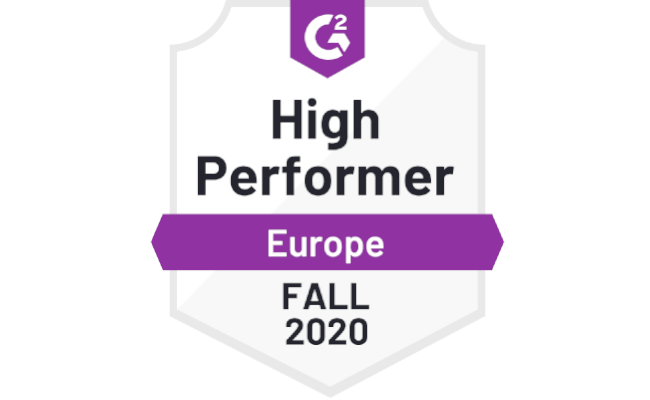 G2 ranks Mopinion as a High Performer for the Enterprise Feedback Management Category