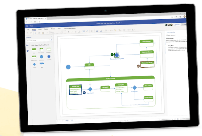 Microsoft Visio customer journey mapping tool