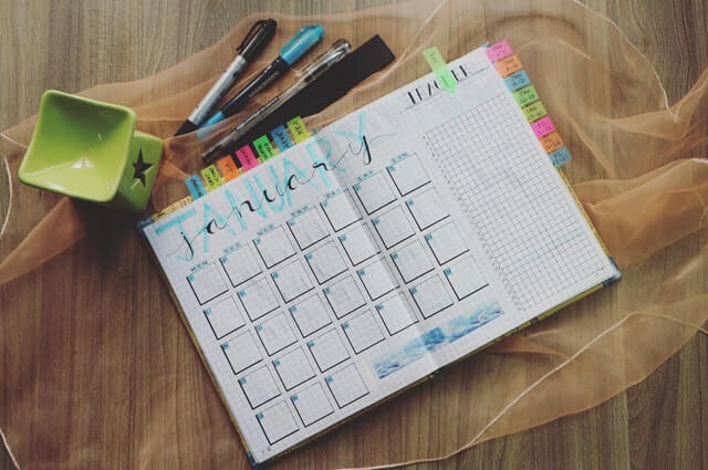 Do your content planning ahead of time