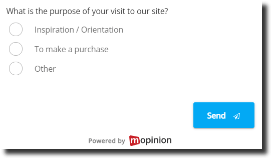 Intention form in marketplace
