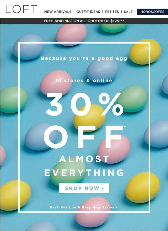 Email marketing emails in retail
