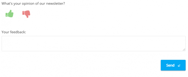 Email newsletter feedback for aftersales