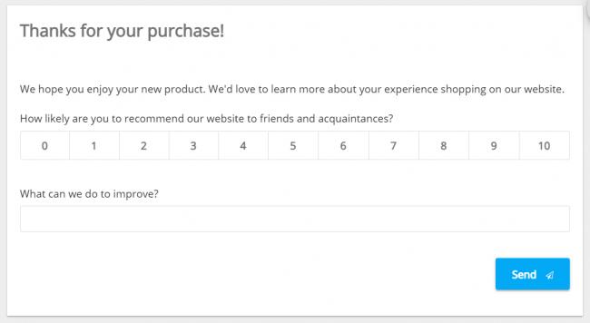 Email NPS survey