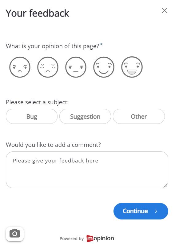 Generic feedback form