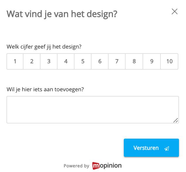 feedbackformulier design