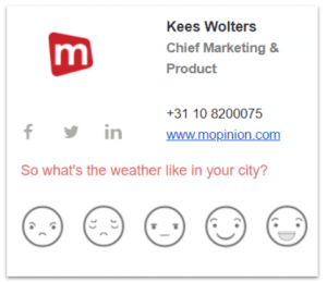 Email Signature Feedback Example Kees Mopinion