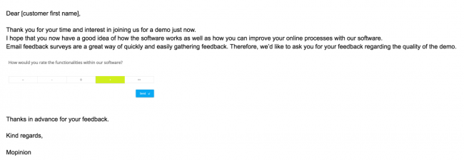 Demo feedback