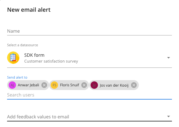 Email alerts for multiple users