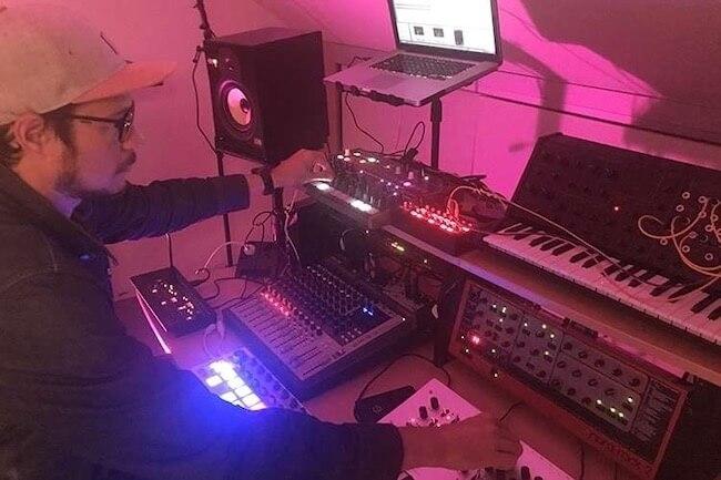 Florent Turpin making music