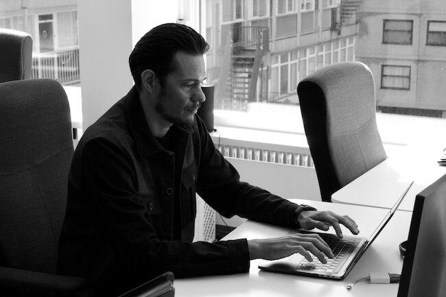Floren Turpin at his desk
