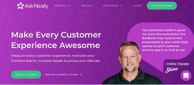 AskNicely product feedback