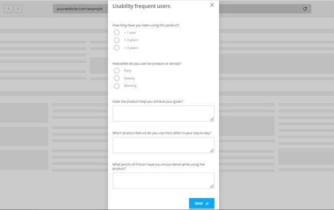 Product feedback usability