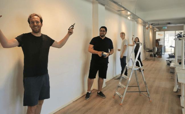 Mopinion team painting