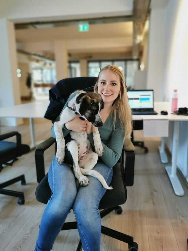 Lynn with dog