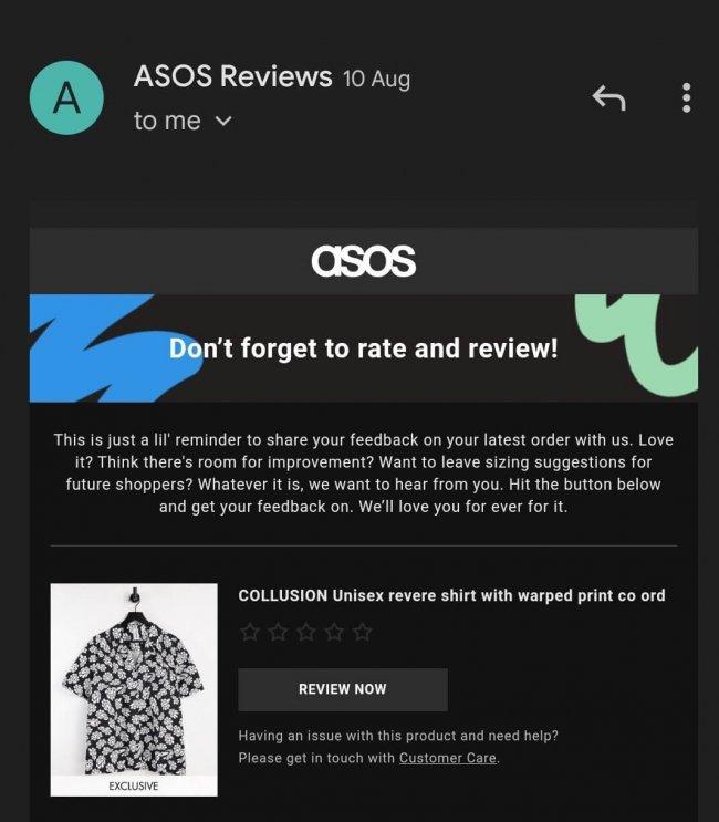 Asos reviews