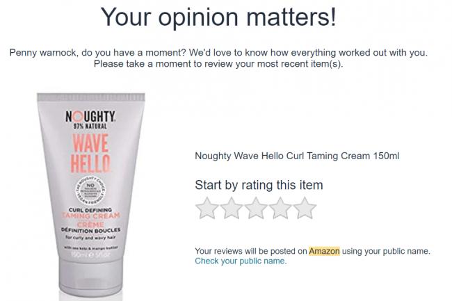 Amazon product feedback